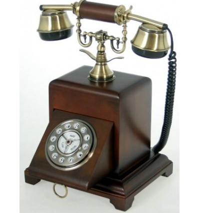Telefono de madera Antique