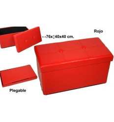 Puff Plegable Rojo