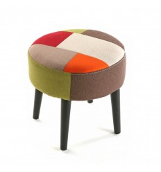 Taburete Red Patchwork