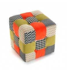 Taburete Puff Patchwork Houston
