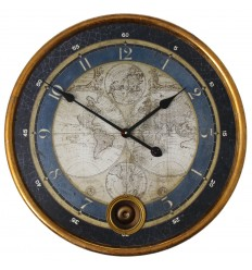Reloj de Pared Metal Maps