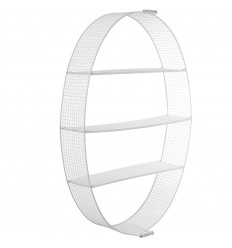 Estante pared blanco oval